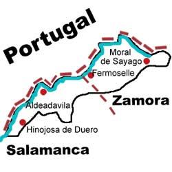 Situación geográfica de Los Arribes del Duero
