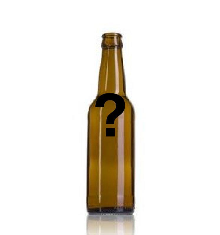 Aribayos botella vacía de cerveza con interrogante