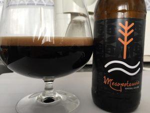 copa y botella de cerveza negra estilo imperial stout San Valentín en La Panera de Morales de Toro