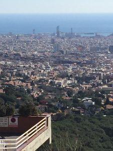 Vistas desde el funicular de Vallvidriera Barcelona