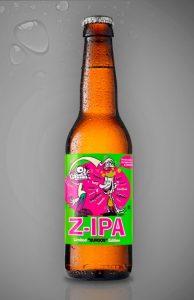 Botella de cerveza ZIPA