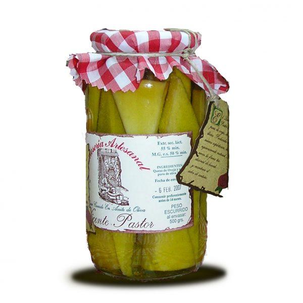 Tarro queso en aceite