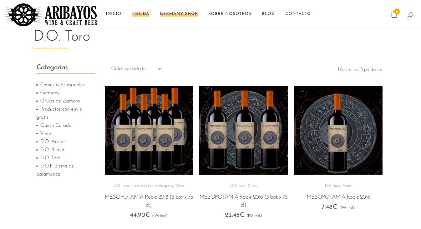 Comprar vinos online aribayos
