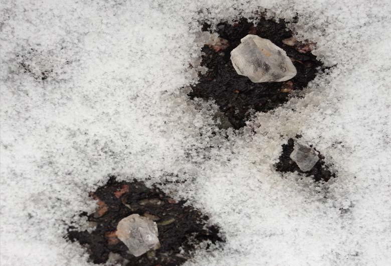 efecto de la sal sobre la nieve